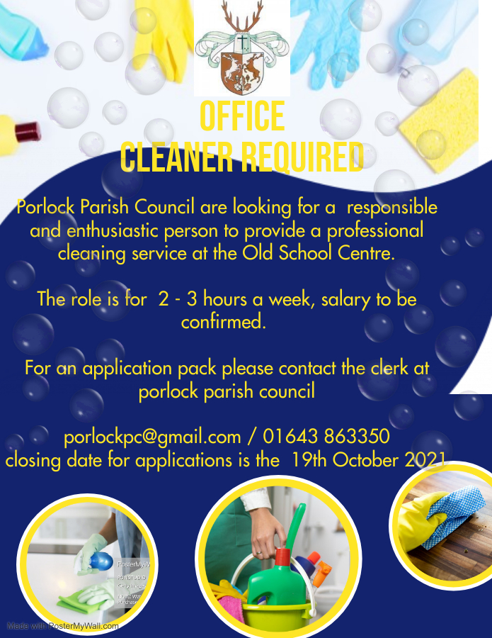 Cleaning position advert 1